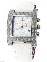 Aqua Master stainless steel 2.75CT genuine diamonds Square watch - $699.99