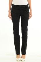 Sz 2 Nanette Lepore Black Cotton Blend Straight Leg Trouser Dress Pants ... - $58.74 CAD