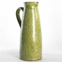 Green Ceramic Pitcher - 'Crackle' Finish - $28.71