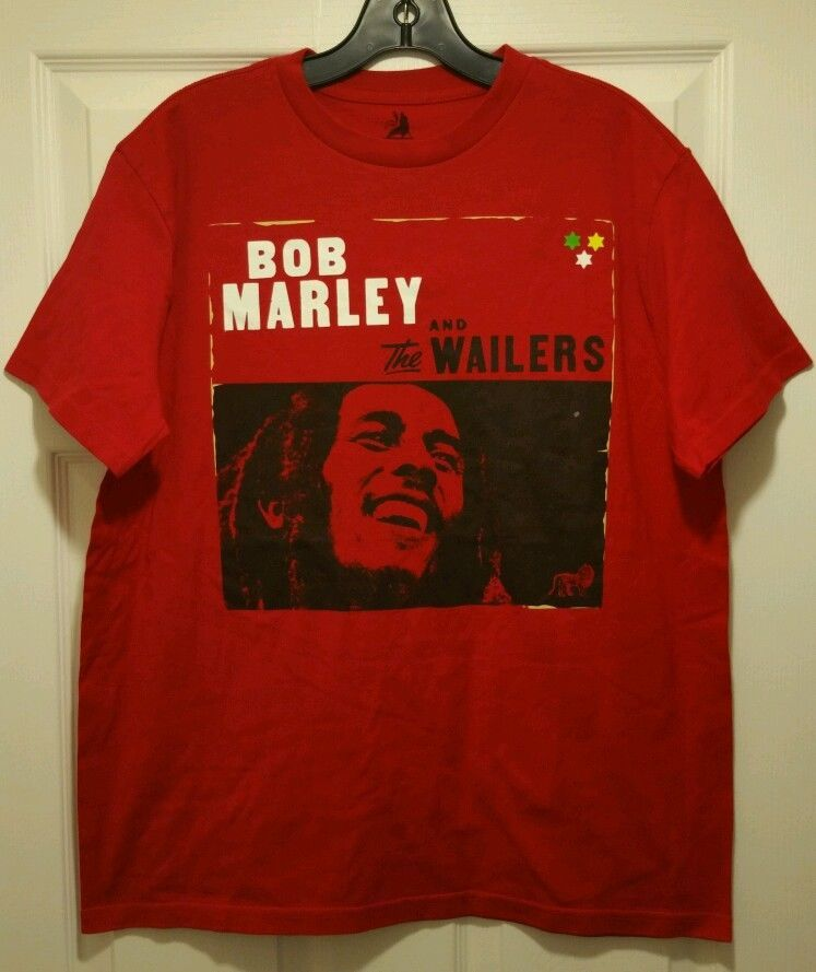 New bob marley and the wailers red adult medium t shirt for Adult medium t shirt
