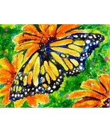 "Akimova: BUTTERFLY,yellow,green,wax painting,approx.9""x12"" - $25.00"