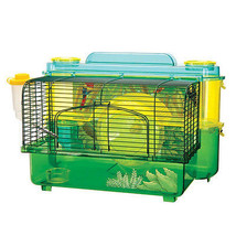 Two Level Green Hamster Home.Fun Gerbils Mice.Pet Cage Habitat Small Ham... - $55.56