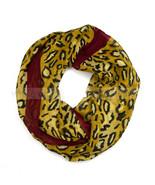 Cheetah Leopard Animal Print Maroon Circle Loop Infinity Scarf Spring Su... - $5.89