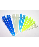 12Pc Glow in Dark Ear Stretching Kit Tapers expanders gauges 00g 0g 2g 4... - $11.63