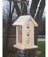 WO Hanging bird feeder,with 4 perches Built from (REAL) Cedar Easy Fill - $49.95