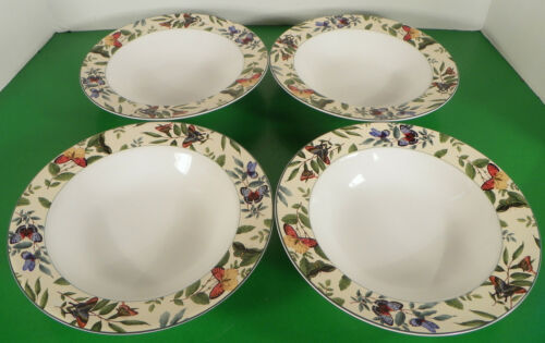 Primary image for Sakura BUTTERFLIES Rim Soup Bowl (s) LOT OF 4