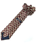 "NEW TODAY'S MAN SILK TIE Made in Italy Burgundy, Gold Designer 58"" - $12.95"
