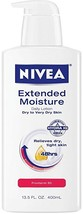 2PK Nivea Extended Moisture Daily Lotion for Dry to Very Dry Skin, 13.5 - $21.38