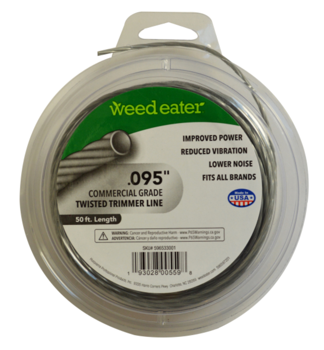 Weed Eater .095 Inch Commercial Grade Twisted Trimmer Line, 50 Feet - $8.95