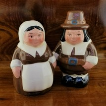 Vintage 2002 Super Markets Inc. Thanksgiving PILGRIM Salt & Pepper Shake... - $11.95