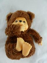 "Vintage Russ Berrie TUBBY 6"" sitting Thumb Sucking Bear Net shell fill K... - $9.49"