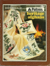 Patons Heritage Afghans Beehive Knit Crochet Pattern Book 501 - $9.99