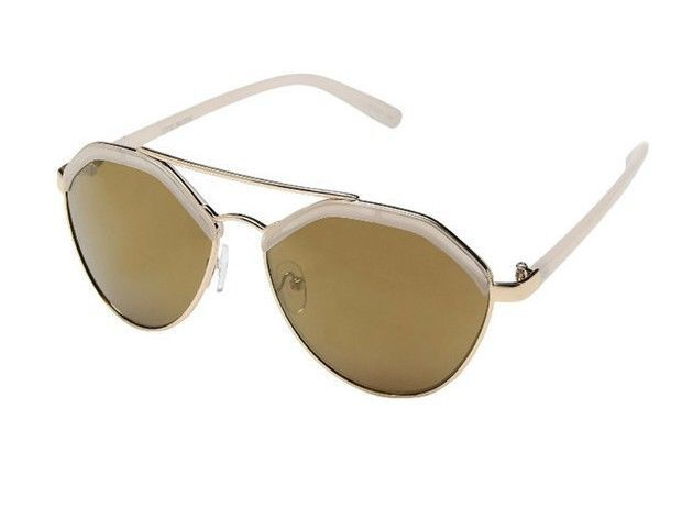 2e903e6c828 NEW STEVE MADDEN Gold Nude Fun Shape Sunglasses SM472171 -  29.99