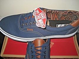 Vans Era 59 Mens Canvas & Leather Dress Blues Italian Weave Skate shoes ... - $49.49