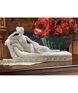 Venus Reclining Paulin Borghese Bonded Marble Nude Female Sculpture Stat... - $84.12