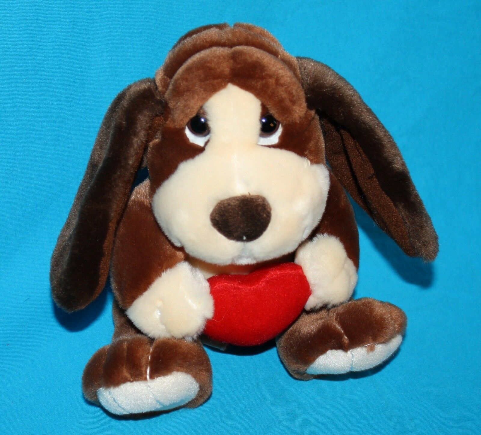 "Primary image for Russ BAXTER Bashful BASSET HOUND DOG 8"" Valentine Red Heart Plush Stuffed 39304"