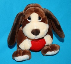 "Russ BAXTER Bashful BASSET HOUND DOG 8"" Valentine Red Heart Plush Stuffe... - $11.05"
