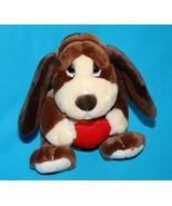 "Russ BAXTER Bashful BASSET HOUND DOG 8"" Valentine Red Heart Plush Stuffe... - $11.05"