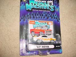Muscle Machines '67 Nova 02-101 White Flamed Mip Free Usa Shipping - $11.29