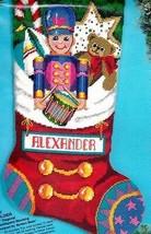 Bucilla Toy Soldier CookiesTeddy Bear Christmas Needlepoint Stocking Kit 60730 - $195.95