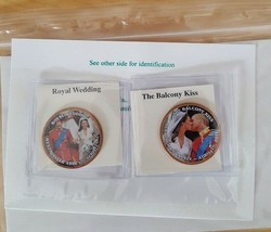 Royal Family  BRITISH 1 PENNY COLORIZED COINS - HRH OF WALES, CANADA - $6.43