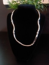 Women's Fashion Silver Beaded Necklace - $8.99