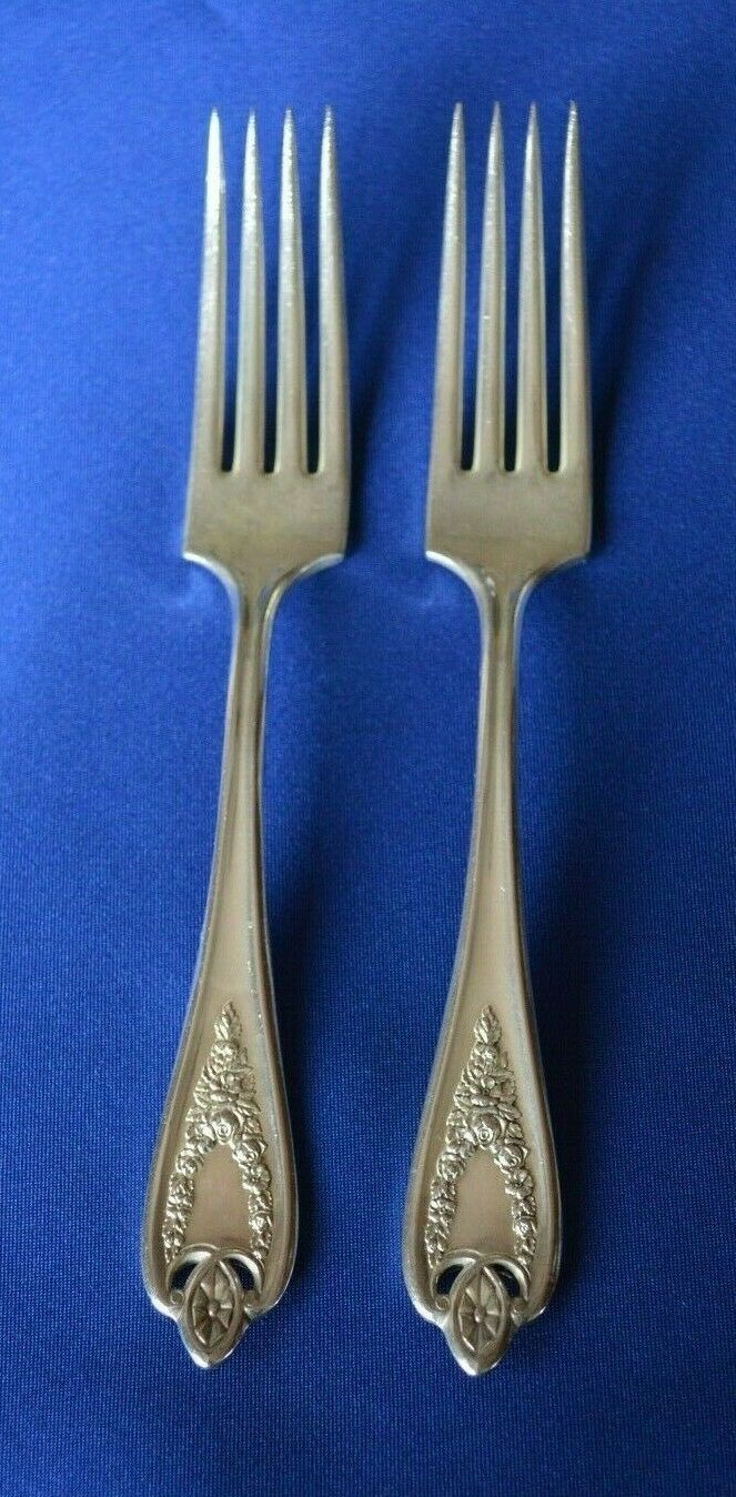 2 1847 Rogers Bros 1911 Old Colony Luncheon Forks - $9.90