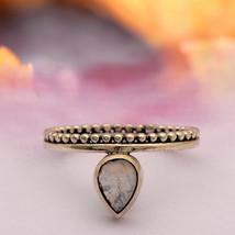 Shine Jewel Vintage 925 FINE SILVER 0.85 Ct Rainbow Moonstone Boho Minim... - $14.30
