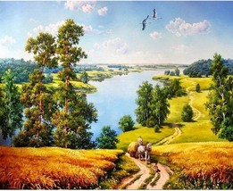 Paint By Numbers DIY Kit Rural Country View landscape 40CMx50CM Canvas - $12.67