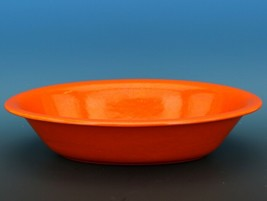 Vintage Franciscan El Patio Flame Orange / Uranium Red Oval Bowl 30s F Logo