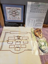 Cross Stitch Kit Family Tree Partially Complete 1989 Dimensions by Linda Gillum - $19.80
