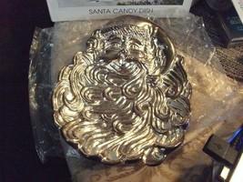 20#22 NIB Silver Plate Santa Claus Candy Dish 3D Dimensional Christmas D... - $24.74