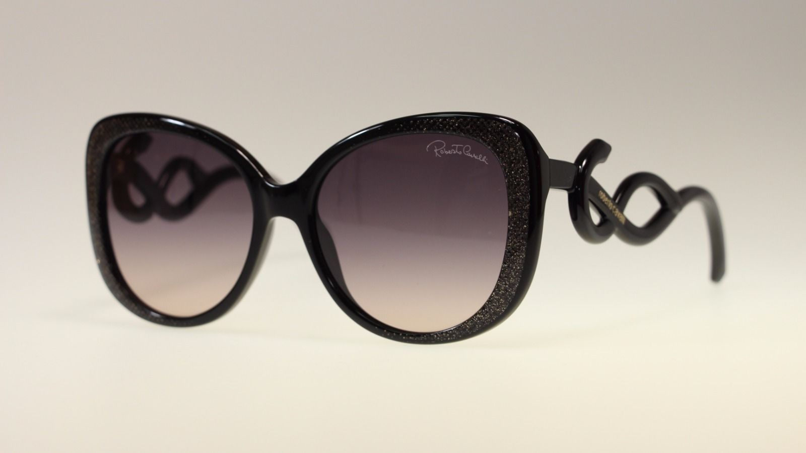 89d9a0e4d8 Roberto Cavalli Mintaka RC911 05B Shiny Black  Grey Gradient Women s  Sunglasses -  173.63