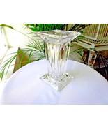 "Square Pillar Crystal Centerpiece Vase 7"" - $14.85"
