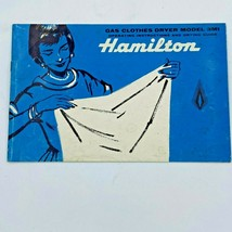 Vintage Hamilton Gas Clothes Dryer Operating Instructions Guide Model 3M... - $13.95