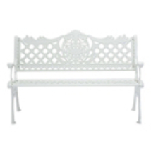 Outdoor 3-Person Cast Aluminum Bench, Island Gale Patio Garden Yard Furn... - $549.00