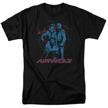 Airwolf Classic TV Series Retro 80's Jan-Michael Vincent graphic t-shirt NBC280 image 1