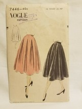 Vogue Sewing Pattern 7446 1950's Circle Skirt Cut AS IS - $12.86