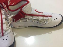 Nike Air Shake Ndestrukt Men's Basketball Shoes White/Red 880869 100 Size 11 image 5