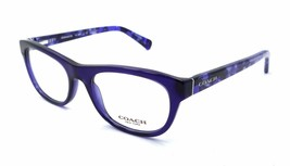 New Authentic Coach Rx Eyeglasses Frames HC 6081 5349 51x18 Navy / Black Mosaic - $58.80