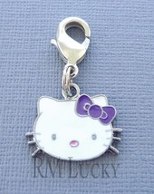 Dangle Pendant Hello Kitty Clip On Charm Fits Link Chain, floating locket C95 - $3.95