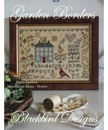 Garden Borders Loose Feathers #11 Abecedarian cross stitch Blackbird Des... - $8.10