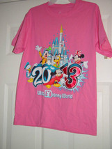 Disneyland Walt Disney World 2013 Size Small Pink T-Shirt - $14.00