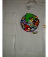 Angry Birds White T-Shirt Size Large - $12.00