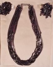 Vintage Jewelry Set - LES BERNARD Signed Multi Strand Necklace & Earring... - $39.19