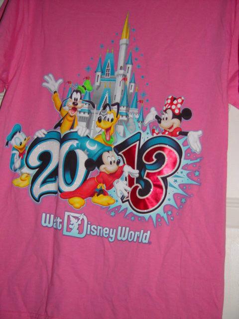 Disneyland Walt Disney World 2013 Size Small Pink T-Shirt