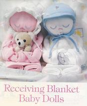 RARE~Receiving Blanket Baby Dolls Pattern~Boy & Girl - $9.99