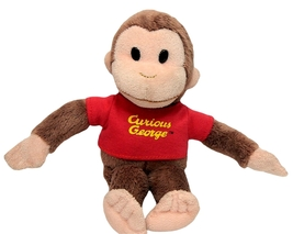 """Classic Curious George in Red Shirt 8"""" Plush Monkey by Gund #320693 - $9.90"""