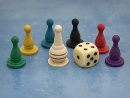 Basic Pawn Set with Six-Sided Die (Stuff and Nonsense) - $2.50