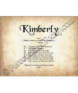 Kimberly Hidden Within Your Name Is A Special S... - $8.95